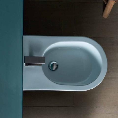 Bidê de design moderno de cerâmica 57x37cm Sol, fabricado na Itália