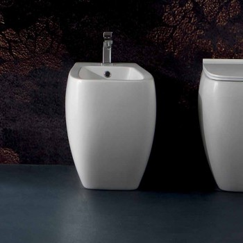 Bidê de cerâmica branca com design moderno Gais, fabricado na Itália
