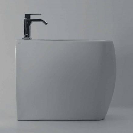 Bidê de design moderno em cerâmica branca Gais, produzido na Itália