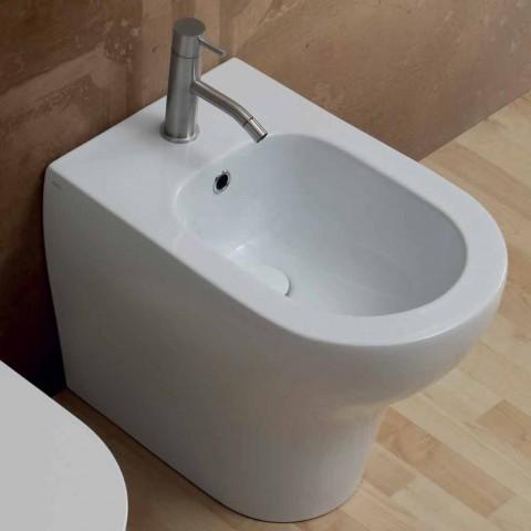 Bidê de cerâmica branca design moderno 54x35 cm, fabricado na Itália