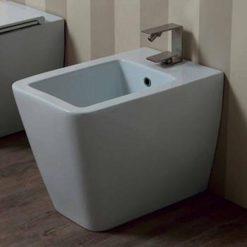 Bidê de cerâmica branca de design moderno Sol 55x35 cm fabricado na Itália