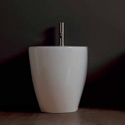 Bidé de cerâmica moderna Shine Square Rimless 54x35cm made in Italy