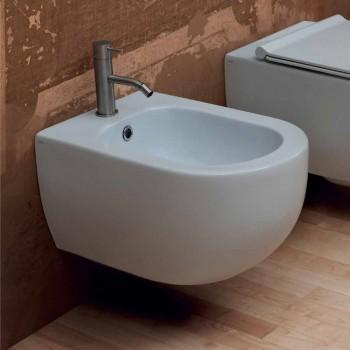 Design moderno parede de cerâmica pendurado bidé Estrela 55x35 cm made in Italy