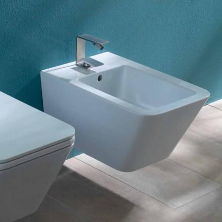 Design de bidé suspenso Cerami cc Sun Square 55x35cm, fabricado na Itália