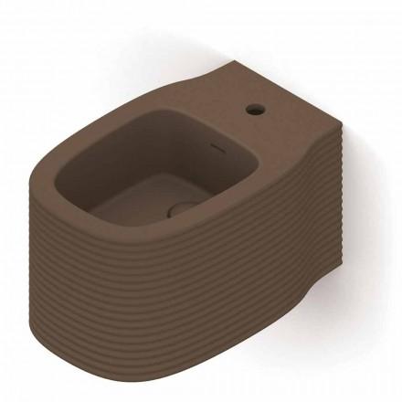 Bidê suspenso de design moderno em cerâmica fabricada na Itália, Amleto