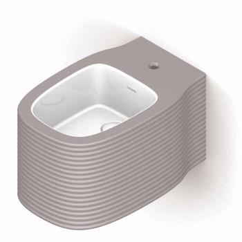Bidê de cerâmica suspenso de design moderno produzido na Itália, Hamlet