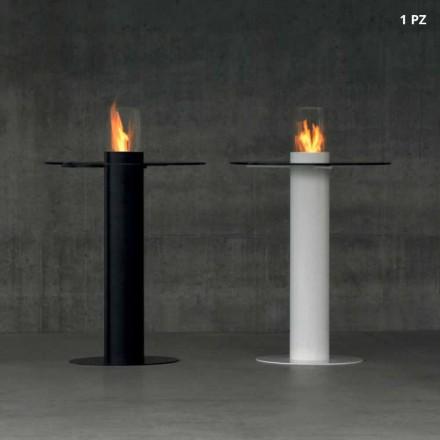 Mesa ao ar livre com queimador de bioetanol e tampo de vidro Dean-Table