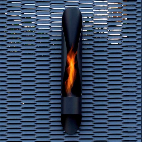 Bio-lareira de Parede Tubular e Design Moderno em Black Steel - Jackson