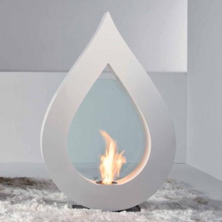 Design moderno lareira a bioetanol independente Todd, feita na Itália