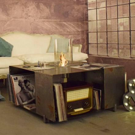 Bio-lareira e mesa de centro de design moderno em aço - Christopher