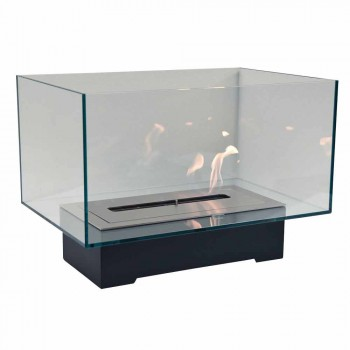Bio-lareira de Design Moderno em Vidro e Aço ou Corten - Bradley