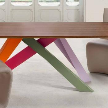 Mesa de madeira extensível Bonaldo Big Table made in Italy