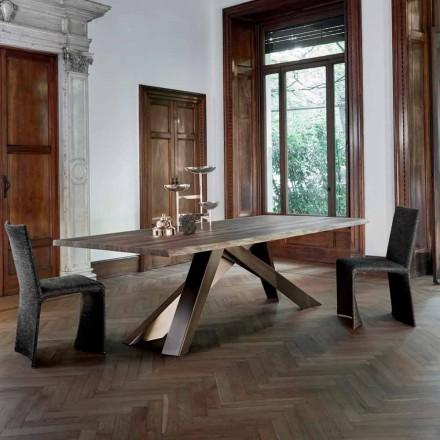Mesa de madeira maciça Bonaldo Big Table com borda viva, fabricada na Itália
