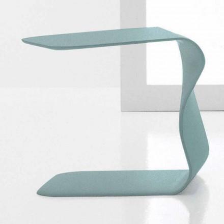 Mesa lateral Bonaldo Duffy 48x60 cm, poliuretano lacado fabricado na Itália