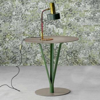 Bonaldo Kadou mesa de design de aço pintado D50cm made in Italy