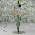 Bonaldo Kadou pintou mesa lateral de aço Ø 50 cm, fabricada na Itália