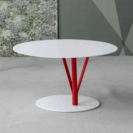 Bonaldo Kadou pintou mesa lateral de aço Ø 70 cm, fabricada na Itália