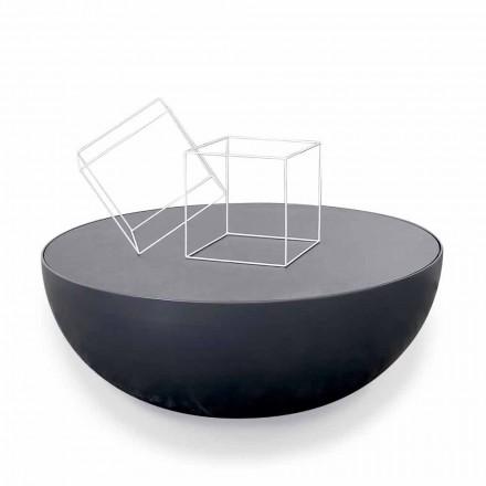 Bonaldo Planet gravado mesa de centro de cristal, design moderno feito na Itália