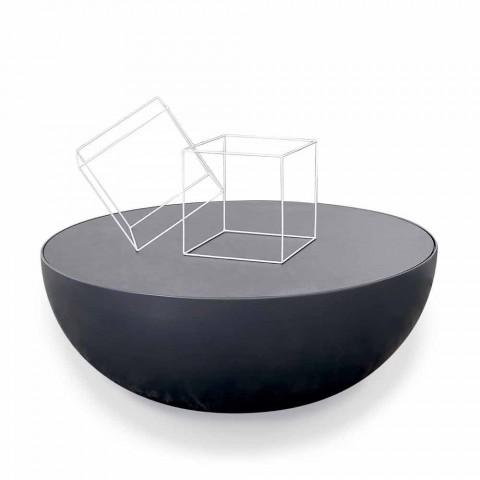 Bonaldo Planet mesa de café design em vidro gravado feito na Itália