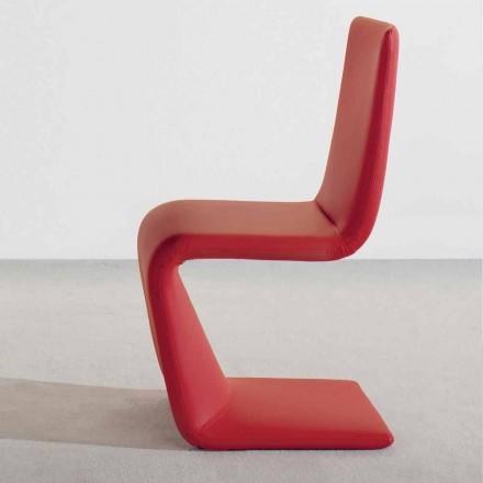 Cadeira Bonaldo Venere de design moderno estofada em couro made in Italy