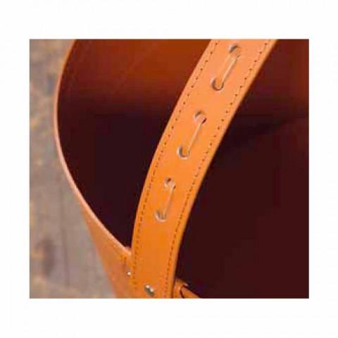 Bolsa de lenha em couro Milo 100% Made in Italy