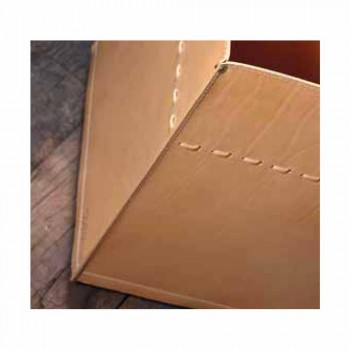 Bolsa de lenha em couro neutro 100% fabricado na Itália