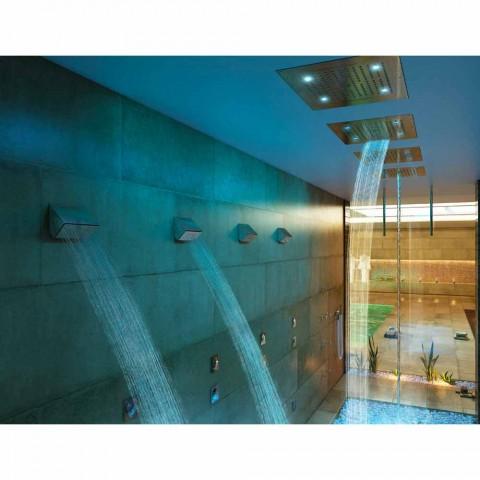 Cabeça de chuveiro Bossini Dream com cromoterapia e quatro funções