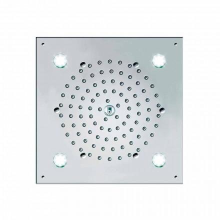 Cabeça de chuveiro Bossini com 4 luzes LED Cube-Light