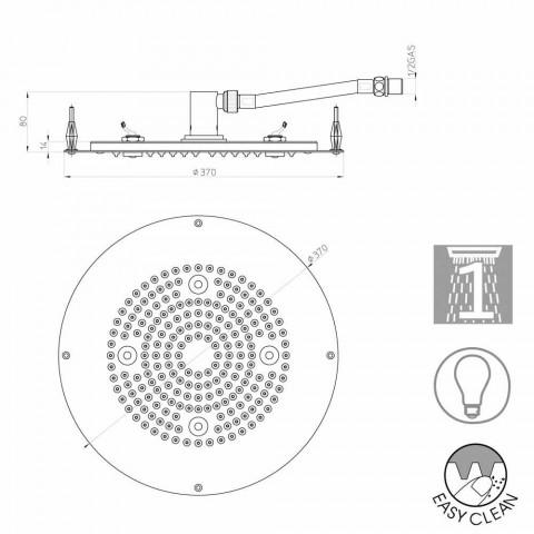Cabeça de chuveiro Bossini rodada para um jato moderno com luzes LED