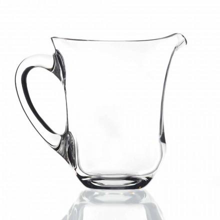 Jarro de água de cristal ecológico de design italiano, 2 peças - alisado