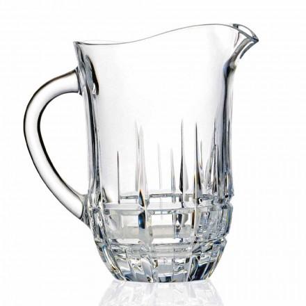 Jarros de água de cristal ecológico decorados, design luxuoso, 2 peças - Fiucco