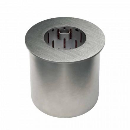 Queimador circular em aço acetinado para lareira a bioetanol - Griff12