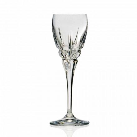 Copo para Vinho Tinto em Cristal Ecológico Corte à Mão 12 Peças - Fiucco