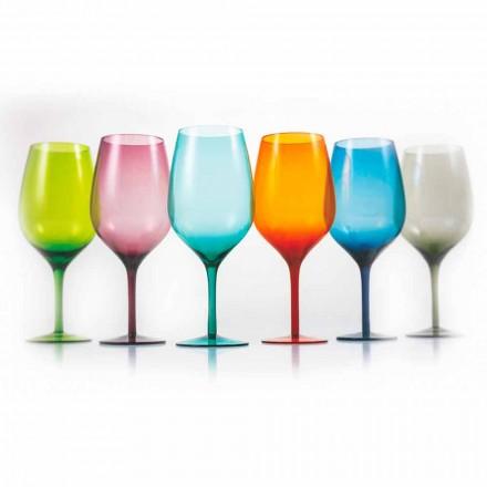 Taças de vinho em vidro branco ou vermelho 3 variantes 12 peças - aperi