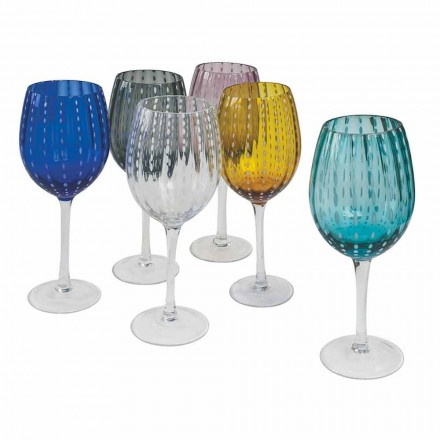 Copos de vinho de vidro colorido e moderno 12 peças Elegant Service - Pérsia