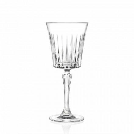 Design de Copos de Vinho e Coquetéis de Luxo em Eco Crystal 12 Peças - Senzatempo