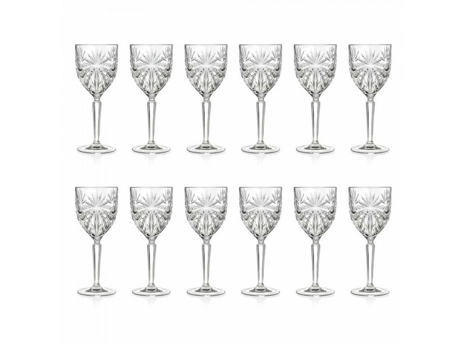 12 peças de vinho ecológico de cristal ou copos de água - Daniele