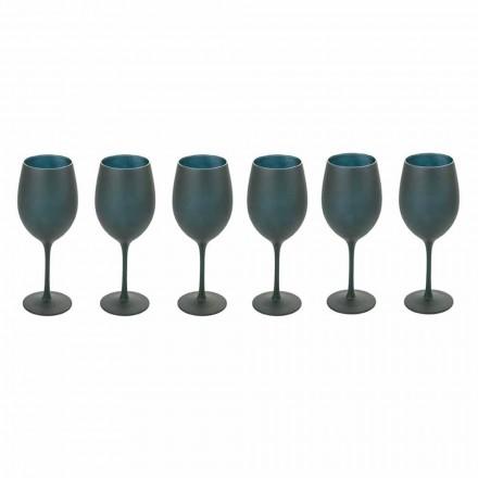 Taças de vinho tinto ou branco em vidro preto Full Service 12 peças - Oronero