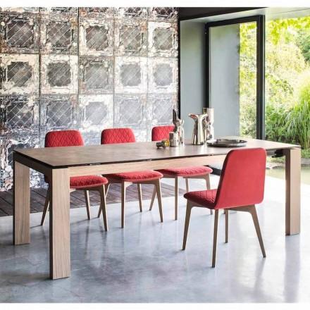 Calligaris Sigma design moderno cerâmica mesa de jantar extensível