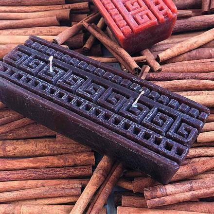 Vela retangular artesanal com aroma de canela, feita na Itália - Alissa