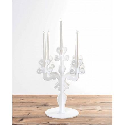 Alto design renascentista de velas, 5 braços em plexiglass, Aragona