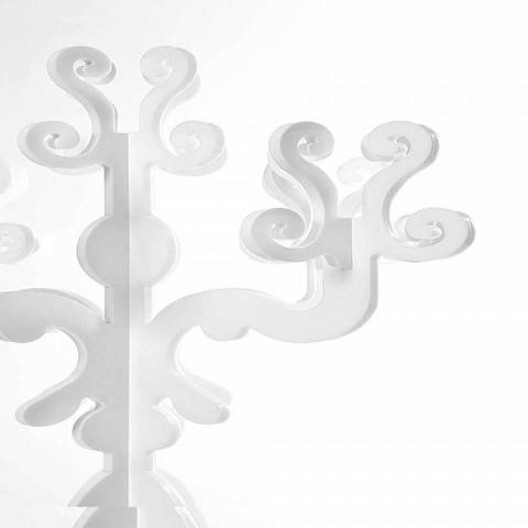 Candelabro renascentista de design alto, 5 braços em plexiglass Aragon