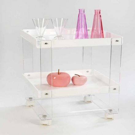 Design food-trolley com 2 prateleiras em plexiglass, Diso