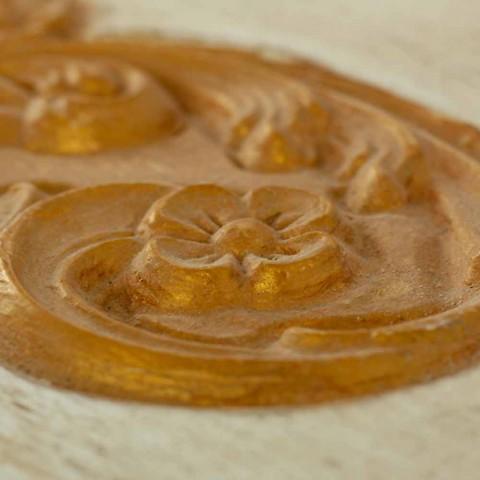 Baú Feito à Mão em Madeira Maciça com Perfis Dourados Fabricado na Itália - Caio