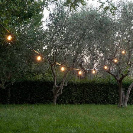 Cabo externo de neoprene com 8 suportes para lâmpadas e 2 ganchos feitos na Itália - Festa