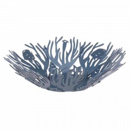 Design de peça central com corais em ferro precioso feito à mão na Itália - Maste