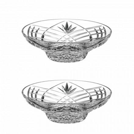 Peça central de design vintage em cristal ecológico 2 peças - Cantabile