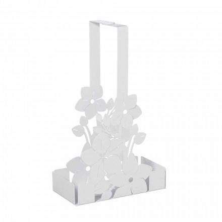 Cesta de suporte de copo de ferro floral de design moderno fabricada na Itália - Marken