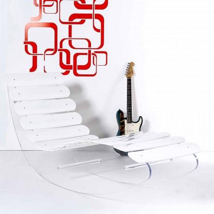 Chaise longue design moderno feito de plexiglass transparente Josue