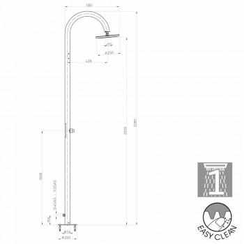 Coluna Bossini Oki moderno chuveiro com alimentação lateral